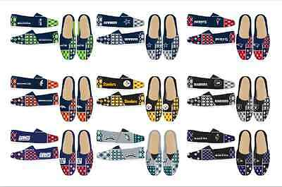 NFL Football Team Logo Womens Ladies UGLY Canvas Shoes - Pick Your Team!