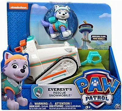 Paw Patrol Everest's Rescue Snowmobile, Vehicle and Figure / FREE  SHIPPING