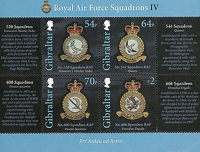 Gibraltar Stamp, 2015 GIB1509S Royal Airforce Squadrons RAF S/S, Aviation