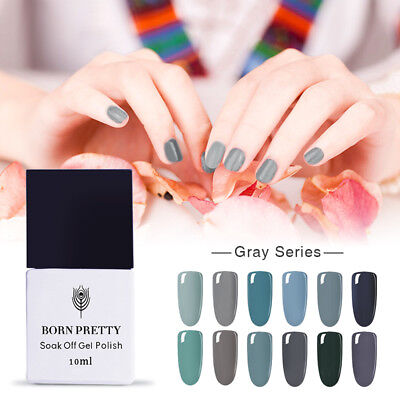 5/10ml Born Pretty UV Gel Nail Polish Soak Off LED Base/Top Coat  -Gray Series