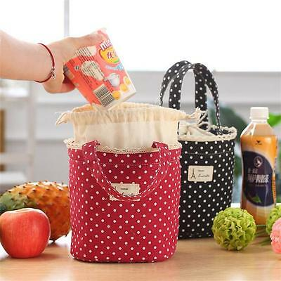 Waterproof Women Kid Insulated Thermal Lunch Box Bag Bento Cooler Tote Picnic JJ