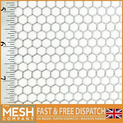 Hexagonal Mesh - Mild Steel- Perforated -6mm Hole-6.7mm Pitch-1.5mm Thickness