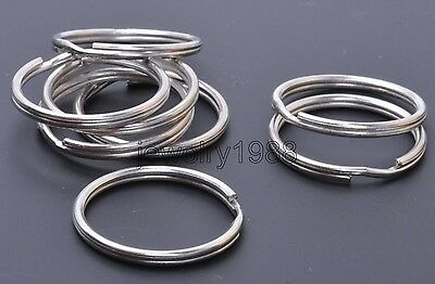 10pcs Silver Stainless Steel Key Rings 25mm Split Ring jump ring Connector