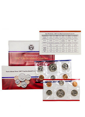 1987 United States U.S. Mint Uncirculated Coin Set SKU1393