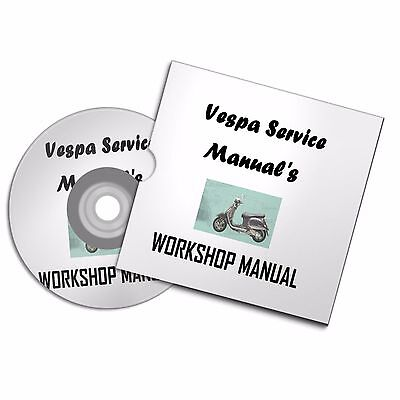 Piaggio Vespa P200E  P125X P150 X Eng /fr Workshop Owners Manual Scooter Moped