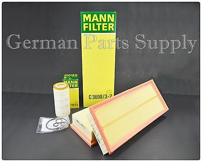 Mercedes Benz Engine Air Filter + Engine Oil Filter Fleece Mann OEM Quality