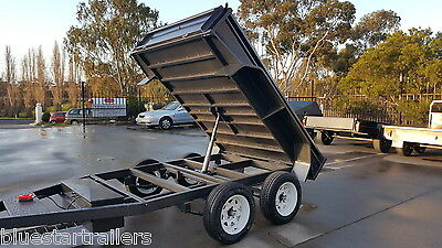 10x6 Tandem Tipper Trailer Hydraulic Brakes New Wheels
