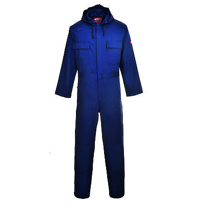 WELDING BOILER SUIT COVERALL FLAME RESISTANT HOODED knee pad pockets  BIZ6