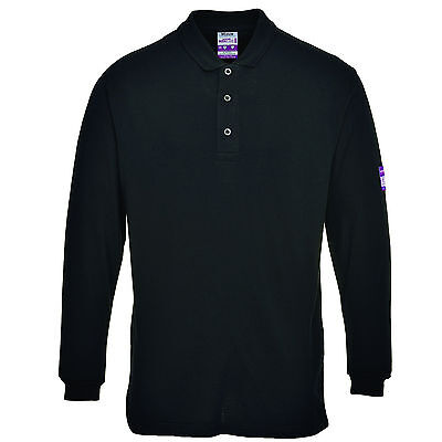 Welders Polo Shirt Flame-Resistant Long Sleeved Mens Anti-Static Welding FR10
