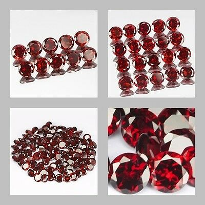 2mm Lot 10,20,100pcs Round Cut Accent Stone Natural Red MOZAMBIQUE GARNET
