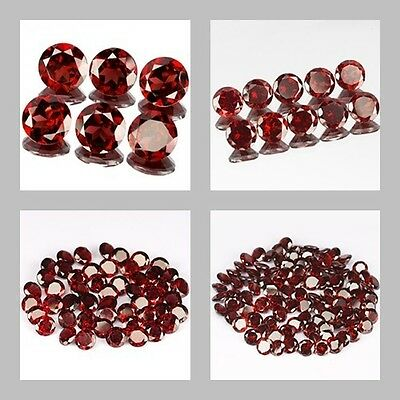 4mm Lot 6,10,50,100pcs Round Cut Side Stone Natural Red MOZAMBIQUE GARNET