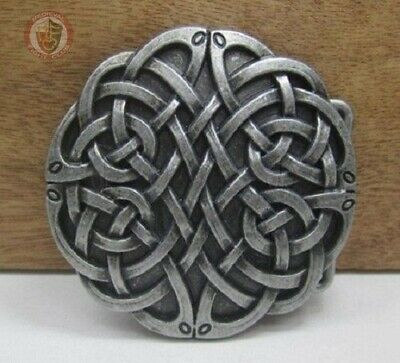 Pewter Belt Buckle – DIY belt with celtic endless knot Weave