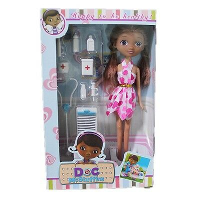 Collection Cartoon Doc McStuffins Clinic Set Figure Toy Doll Barbie Xmas Gift