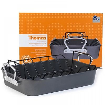 Thomas Rosenthal Large Non Stick Oven Baking Tin Roasting Pan Tray With Rack