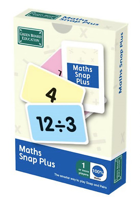Maths Plus Snap and Pairs Card Game - Educational Game for Children 8+ Years