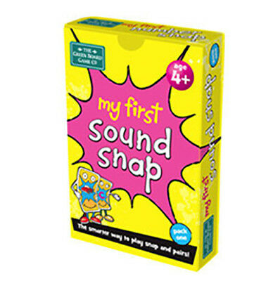 BrainBox My First Sound Snap Pack 1 Card Game Pairs Match English Letters A-M