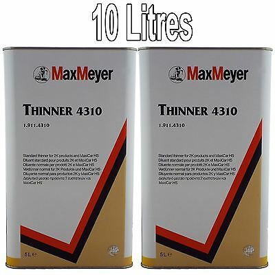 Max Meyer 2K Universal Thinners 10ltr 4310 Paint/Basecoat/Lacquers Thinner 2x5l