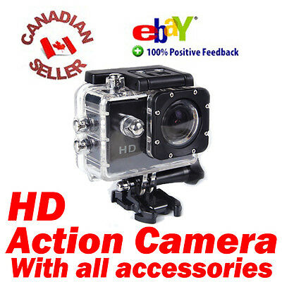 Waterproof Sports DV HD Video Action Camera Camcorder with all accessories