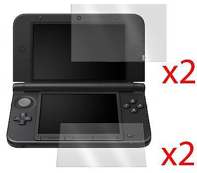 4x LCD SCREEN PROTECTOR COVER GUARD & CLOTH FOR NINTENDO 3DS XL LL