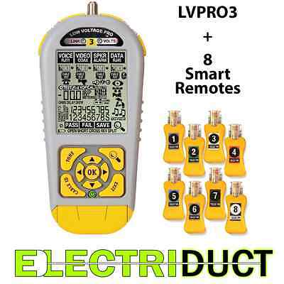 LVPRO3SR Cable Tester for RJ45 RJ11 and Coax Includes Smart Remotes - Triplett