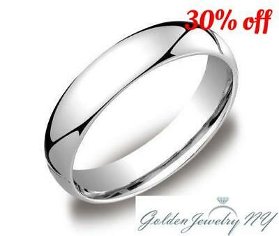 "Solid Platinum 950 Plain Comfort Fit Wedding Band Ring Mens Women .""all Sizes"""