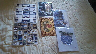 all new-3 beautiful xmas cards/1well crafted dream catcher ornament/2 more piece