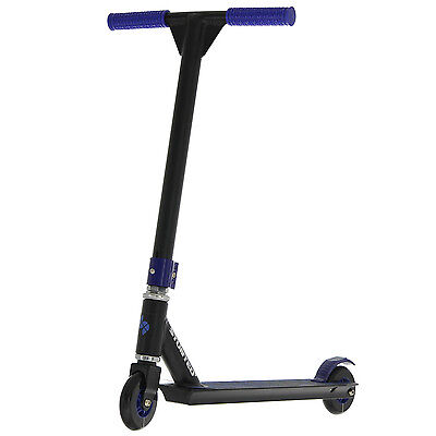Stunted Kids Kick Stunt Scooter Fun Pro Tricks Street Outdoor Riding Toy XL Blue