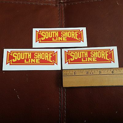 Railroad Decals (3) -Chicago South Shore and South Bend - free shipping