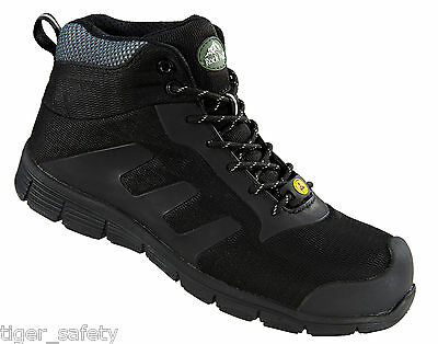 Rock Fall TeslaDri RF120 Vegan Friendly Black S3 ESD Composite Toe Safety Boots