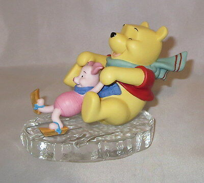 Friends Through Thick and Thin Winnie The Pooh Piglet Ice Disney Figurine NWOB