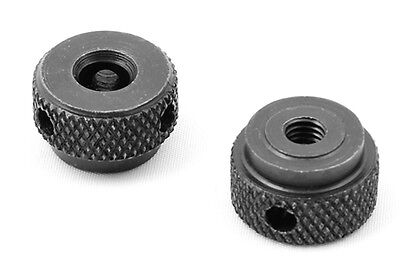 TMS M5 10-32 Thread 2pc Diamond Knurled Steel Thumb Nut Set for Scope Mount