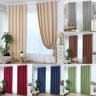 Solid Sheer Voile Window Door Curtain Panel Drape Room Curtain Divider Scarf