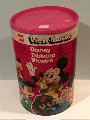 Vintage View-master tabletop Theatre projector 1960's works in Disney can GAF