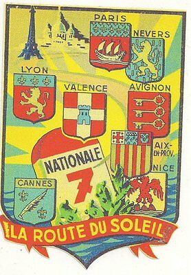 Nationale 7  sticker  95mm x 65mm