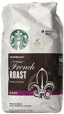 1.13kg./40oz./2.5lb. Starbucks French Roast coffee or Pike Place caffe, NEW cafe