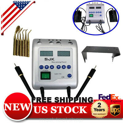 Dental Lab Electric Wax Waxer Carver Knife Double Carving Pen/pencil with 6 Tips