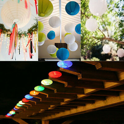8'' 10'' 12'' Chinese Outdoor Solar Lantern Wedding Party LED Light Lamp Decor