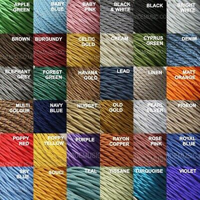 TWIST 2 Core Braided Fabric Cable Lighting Lamp Flex Vintage - Choice of Colours