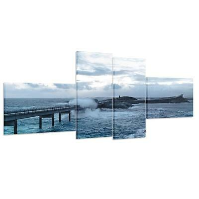 HD Canvas Prints Home Decor wall art Painting Picture Unframed Norway Ocean Road
