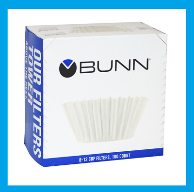 New! 100ct BUNN Coffee Tea Filters Home Brewer 8-10 Cup Makers Funnels BCF100-B
