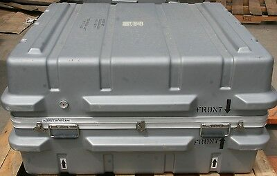 "Hard Plastic Military Shipping Case 43"" x 37"" x 23"""