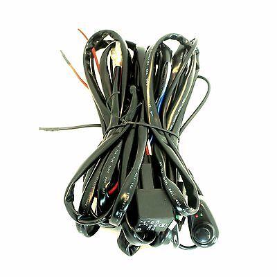 LED Work Light Bar Wiring Harness Kit Cable with Switch and Relay 40 Amp 12V