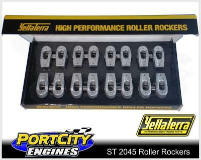 "Yella Terra Roller Rockers for Ford V8 289 302 351 Windsor 3/8"" x 5/16"" ST 2045"