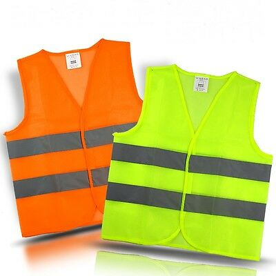 High Visibility Vest Reflective Safety Work Tops Construction Traffic/Warehouse