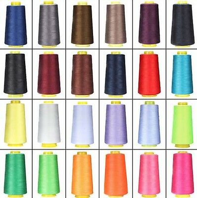 3600 Yards Quality Overlocking Sewing Machine Polyester Thread Cones D2577-2592