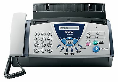 Brother T104 Fax T 104 A4 Mono Fax Machine   MS