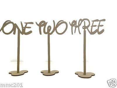 MDF Wooden Wedding, Party Standing Table Numbers, Disney Font
