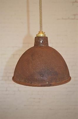 Small Steampunk Rusty Steel Ceiling Hanging Lightshade Lamp Shade Light Rsp3