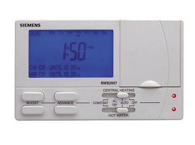 Siemens Rwb2007 S/2 On 7 Day Twin Channel Electronic Programmer Timer.