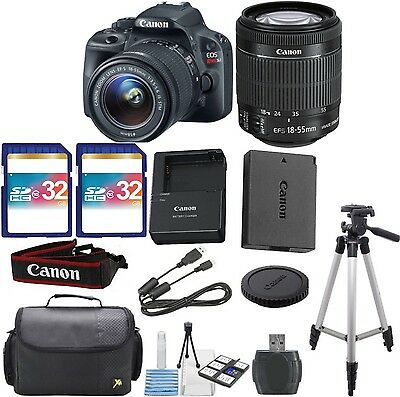 Canon EOS Rebel SL1 DSLR Body Bundle with 18-55mm IS STM Lens+ 64GB Memory